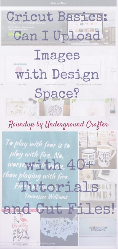 Cricut Basics: Can I Upload Images with Design Space? (with 40+ Tutorials and Cut Files! for Cricut Users from Newbies to Pros) via Underground Crafter