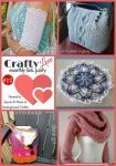 Crafty Love Link Party with Jessie At Home and Underground Crafter | Share your latest crafty projects, WIPs, tips, tutorials, and patterns through July 27, 2017. Check out our 5 most clicked on posts from last month by Kirsten Holloway Designs, Crochet Memories, A Crocheted Simplicity, Oombawka Design Crochet, and Lilia Craft Party!