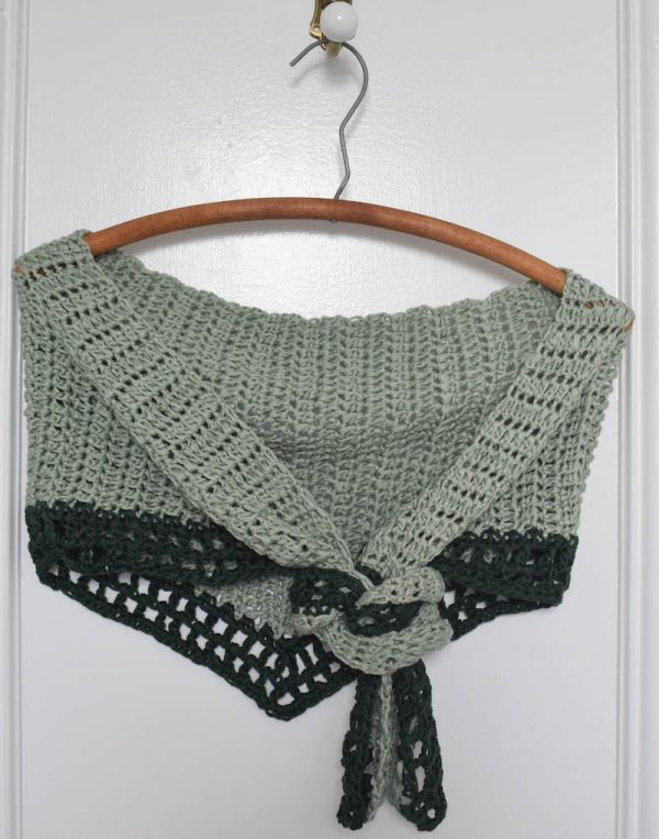 Tina's Day-to-Night Shawl, free crochet pattern in Wool and the Gang Tina Tape yarn by Underground Crafter | This easy-to-make, large shawl transitions seamlessly from day-to-night with you. It's perfect for wearing to work, with jeans, or when dressed up for a night out. The tencel yarn creates excellent drape.