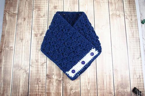 Free crochet pattern: Celestial Button Cowl by Janaya Chouinard for AllFreeCrochet via Underground Crafter