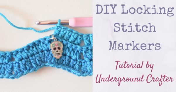 DIY Locking Stitch Markers for Crochet and Knitting Tutorial by Underground Crafter | Make your own custom stitch markers with supplies from Oriental Trading! I used the Dia de los Muertos enamel charms to add color and an autumn feel to this set.