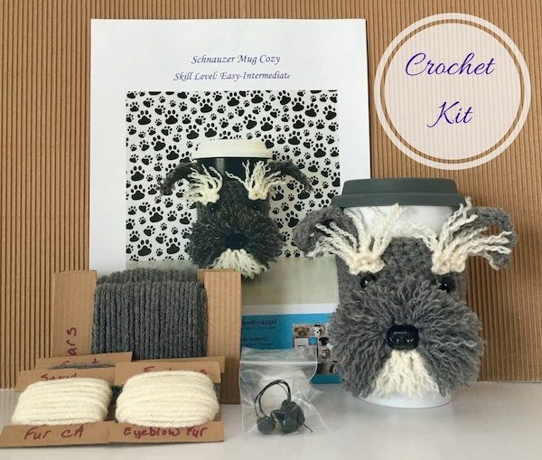 2017 Holiday Stashdown Crochet Along with CAL Central Crochet - Join 15 crochet designers and thousands of crocheters as we count down to the winter holiday season while crocheting gifts and decorations. Share finished project pictures on Underground Crafter for your chance to win awesome prizes, like their choice of a Schnauzer Mug Cozy crochet kit or Dog Mug Cozy crochet pattern bundle (with 6 designs of the winner's choice) from HookedByAngel.