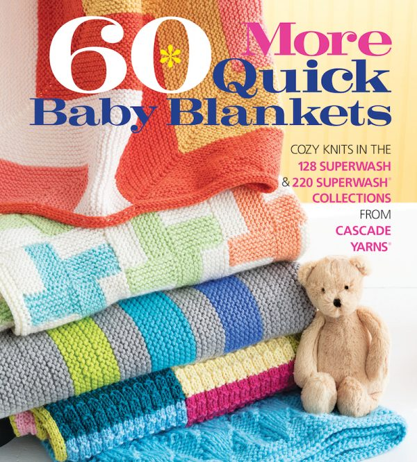 Book Review: 60 More Quick Baby Blankets by Sixth&Spring via Underground Crafter with excerpted pattern: Railroad Tracks by Cheryl Lavenhar