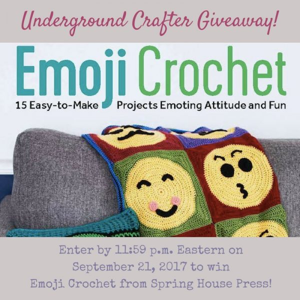 Book review: Emoji Crochet: 20 Easy-to-Make Projects Expressing Attitude & Style by Charles Voth via Underground Crafter | Enter through September 21, 2017 for your chance to win a copy, courtesy of Spring House Press.