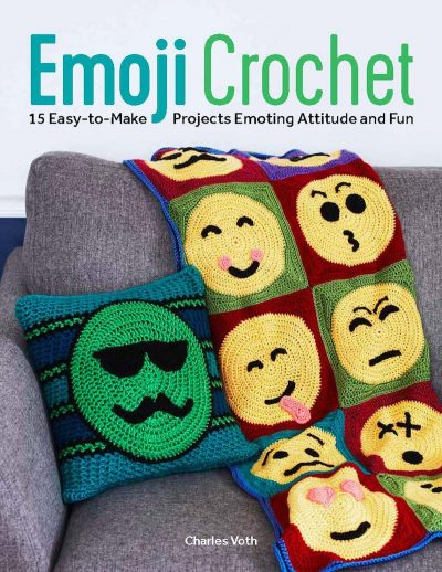 Book review: Emoji Crochet: 20 Easy-to-Make Projects Expressing Attitude & Style by Charles Voth via Underground Crafter