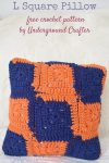 """5 Tips for Getting Your Teen Ready to Live in a Dorm Room or Off-Campus Apartment with CollegeCovered.com by Underground Crafter with free crochet pattern for the L Square Pillow in Red Heart Super Saver yarn using a Fairfield Crafter's Choice 12"""" x 12"""" Pillow"""