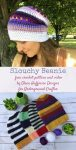 Free crochet pattern: Slouchy Beanie with video by Olena Huffmire Designs for Underground Crafter