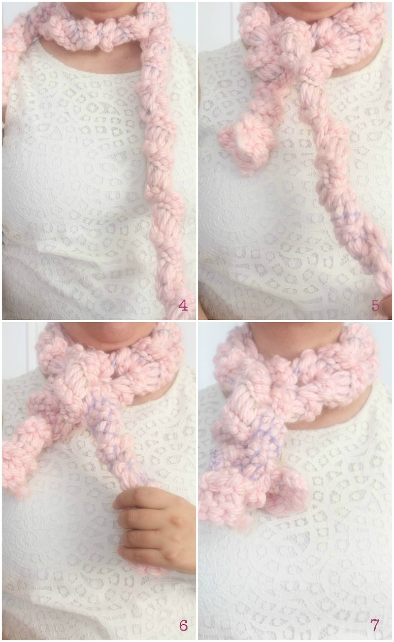 3 Ways to Tie a Rectangular Scarf with 17 Free Crochet Patterns to Inspire You via Underground Crafter - Knotty Girl