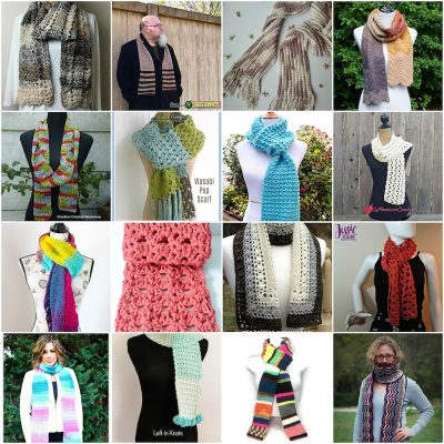 3 Ways to Tie a Rectangular Scarf with 17 Free Crochet Patterns to Inspire You via Underground Crafter - crochet pattern collage