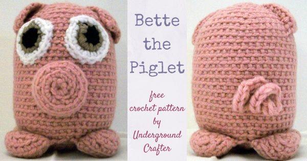 Piglet Free Crochet Pattern - Happy Crocheting | 314x600
