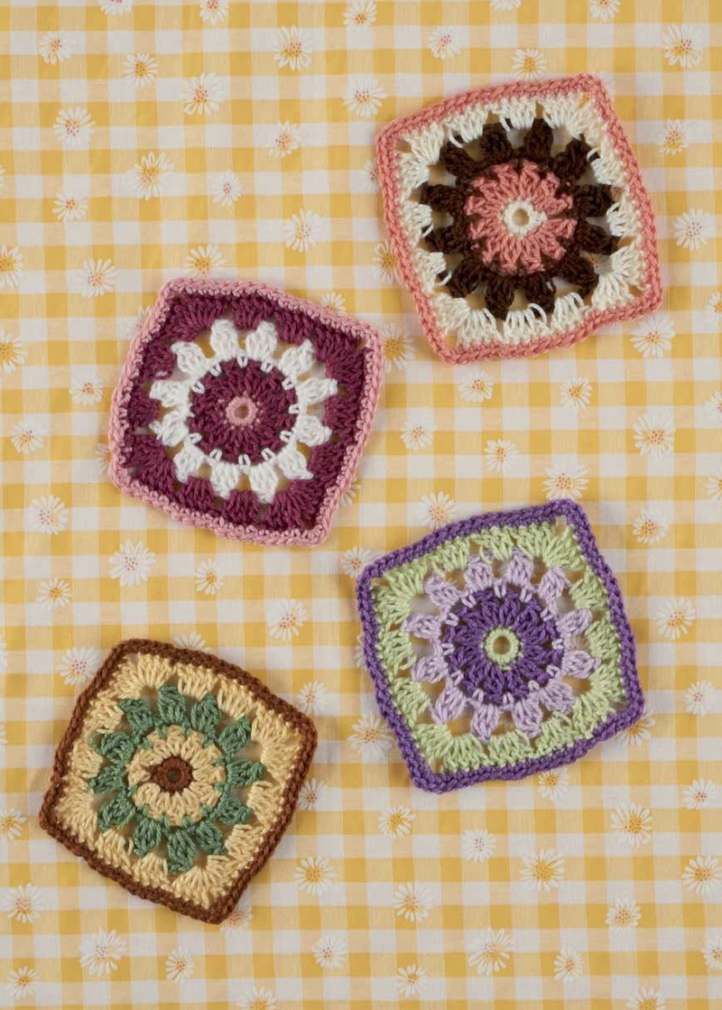 Free crochet pattern: Catherine Wheel square by Val Pierce via Underground Crafter