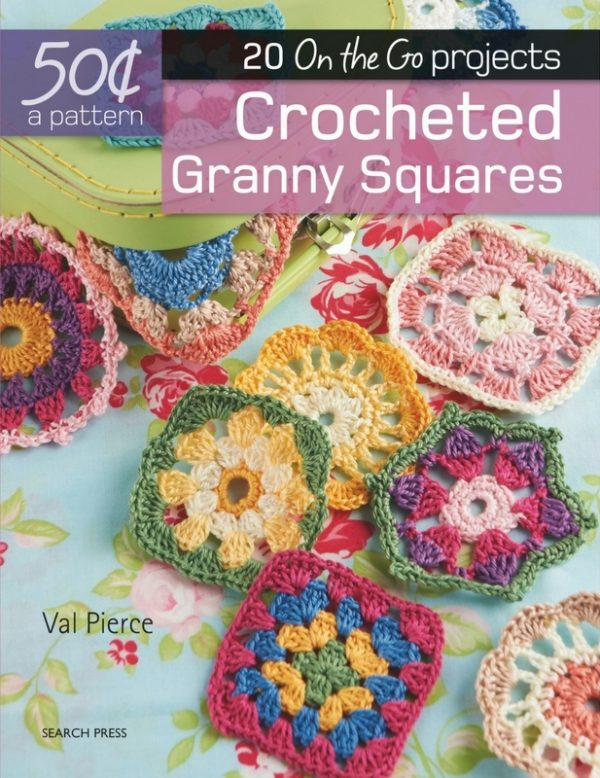Book review: Crocheted Granny Squares by Val Pierce with excerpted crochet pattern: Catherine Wheel square via Underground Crafter