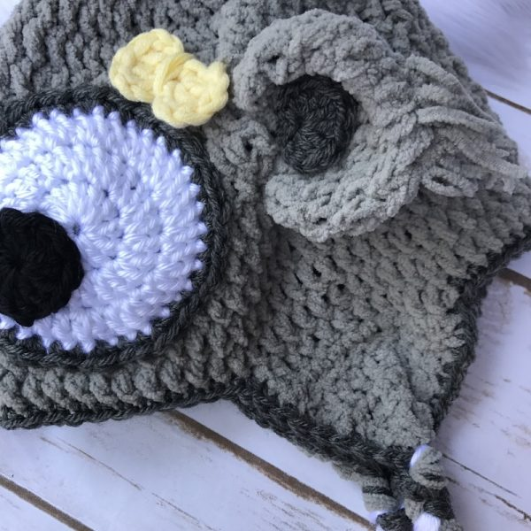 Free crochet pattern: Koala Hat by Olena Huffmire Designs for Underground Crafter