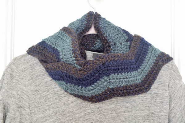 Free crochet patterns Meandering Walk in the Woods Basketweave Beanie and Ripple Scarf by Underground Crafter | These unisex patterns are made from two skeins of Premier Candy Shop yarn.