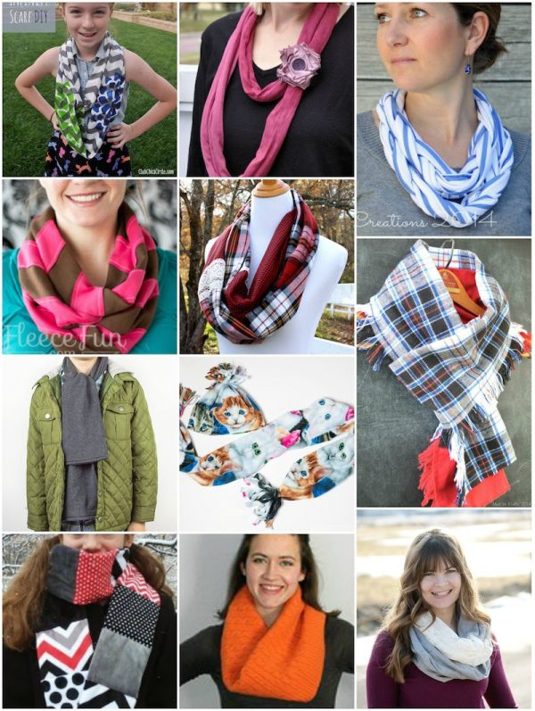 50+ Free Tutorials and Patterns for Handmade Scarves and Cowls via Underground Crafter - Find your next project in this roundup featuring 11 fabric tutorials (with no-sew, low-sew, and sewing options), 28 free crochet patterns, and 12 free knitting patterns. You're sure to find a project for yourself, or a neckwarmer for every man, woman, and child on your handmade gift list!