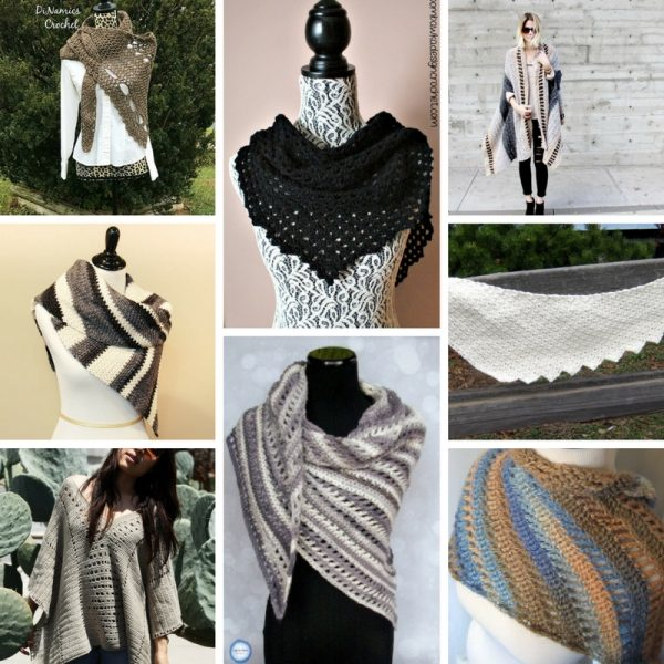50+ Patterns and Tutorials for Shawls, Wraps, Capes, and Ponchos That Make Great Gifts via Underground Crafter, including 6 sewing tutorials, 32 crochet patterns, and 16 knitting patterns -- all free!