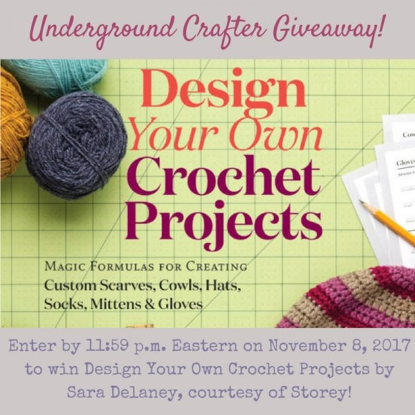 Interview with Sara Delaney (Chicken Betty), author of Design Your Own Crochet Projects, along with a roundup of 10 of her crochet patterns via Underground Crafter | Enter through November 8, 2017 for your chance to win a copy of the book!