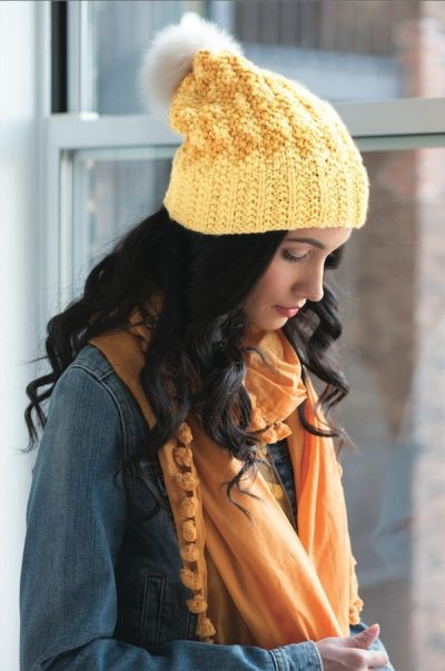 Book review: Seed Stitch: Beyond Knit 1, Purl 1 by Rosemary Drysdale with excerpted free knitting pattern: Slouchy Hat via Underground Crafter