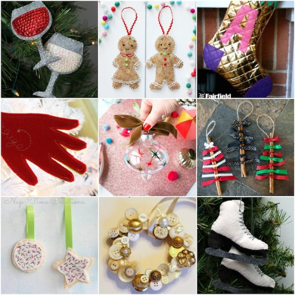 25 Handmade Ornaments to Make and Gift via Underground Crafter | This roundup includes free crochet and knitting patterns, sewing and embroidery tutorials, and more!