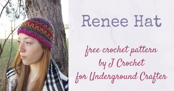 Free crochet pattern: Renee Hat by J Crochet in Lion Brand Landscapes for Underground Crafter | A simple stitch pattern is made stunning by the use of a colorful yarn.