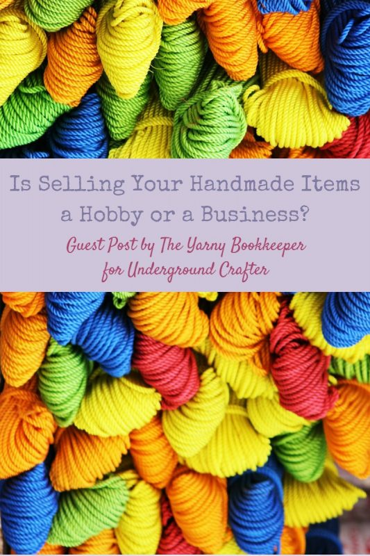 Yarn in primary colors | Is Selling Your Handmade Items a Hobby or a Business? Guest Post by The Yarny Bookkeeper for Underground Crafter