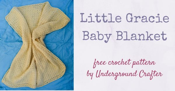 Free crochet pattern: Little Gracie Baby Blanket in Cascade 220 Superwash by Underground Crafter | This simple stitch pattern creates a classic, heirloom quality blanket. Or add stripes for a more vibrant look.