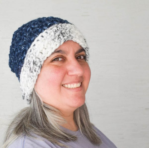 Free Tunisian crochet pattern: Moss Stitch Hat in Lion Brand Wool-Ease Thick & Quick by Underground Crafter   This simple slouchy hat is crocheted flat with two basic Tunisian crochet stitches. It's part of the New Year, New Skill Crochet Along with #CALCentral. Get the pattern and enter the end-of-CAL giveaway with prizes from Denise Interchangeables, Lion Brand, and Search Press North America.