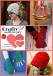Collage of 5 featured crochet and knitting patterns via Crafty Love Link Party 30 (February, 2018) with Jessie At Home and Underground Crafter