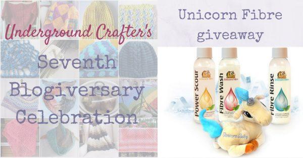 Underground Crafter 7th Anniversary Blogiversary Celebration: Unicorn Fibre giveaway