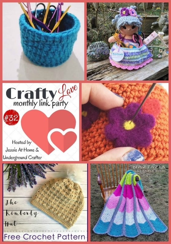 Crafty Love Link Party 32 (April, 2018) with Jessie At Home and Underground Crafter   Share your crafty projects, WIPs, tips, tutorials, and patterns through April 26, 2018.