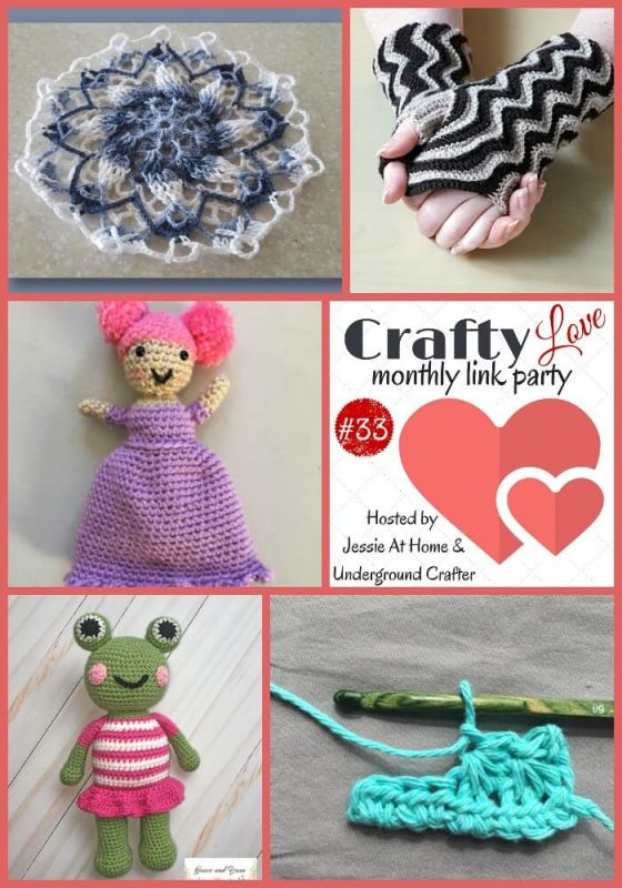 Crafty Love Link Party 33 with Underground Crafter and Jessie At Home - Roundup collage