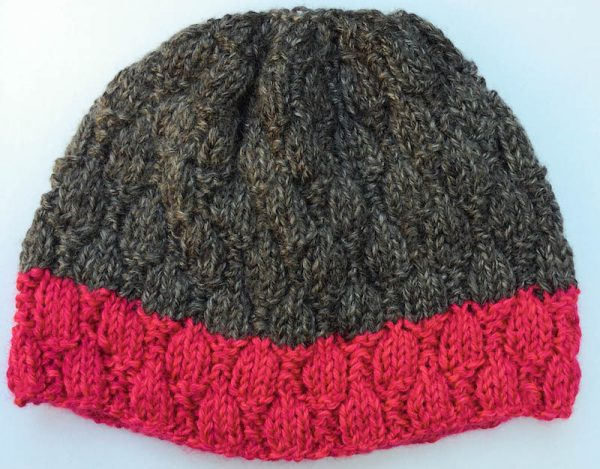 Hummingbird Hat, free knitting pattern by Underground Crafter in Lion Brand Heartland