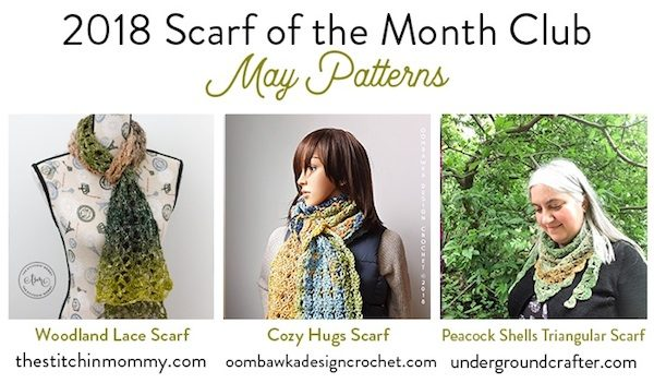 Scarf of the Month Club 2018 May Patterns