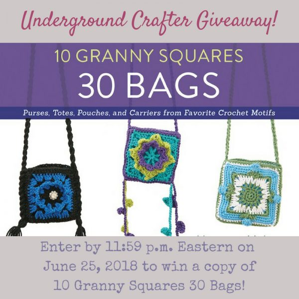 10 Granny Squares, 30 Bags by Margaret Hubert - book review and giveaway on Underground Crafter