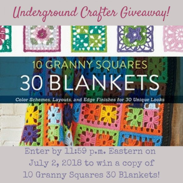 10 Granny Squares 30 Blankets by Margaret Hubert book review and giveaway on Underground Crafter