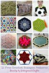 12 Free Crochet Hexagon Patterns via Underground Crafter