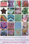 Roundup: 20 Free Crochet Patterns for Continuous Motif Blankets via Underground Crafter