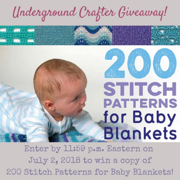 200 Stitch Patterns for Baby Blankets by Jan Eaton giveaway on Underground Crafter