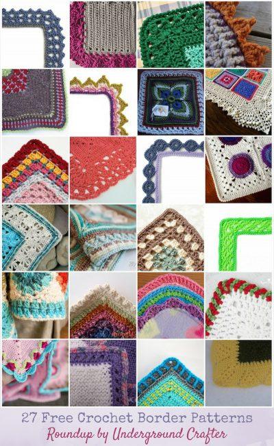 27 Free Crochet Border Patterns via Underground Crafter