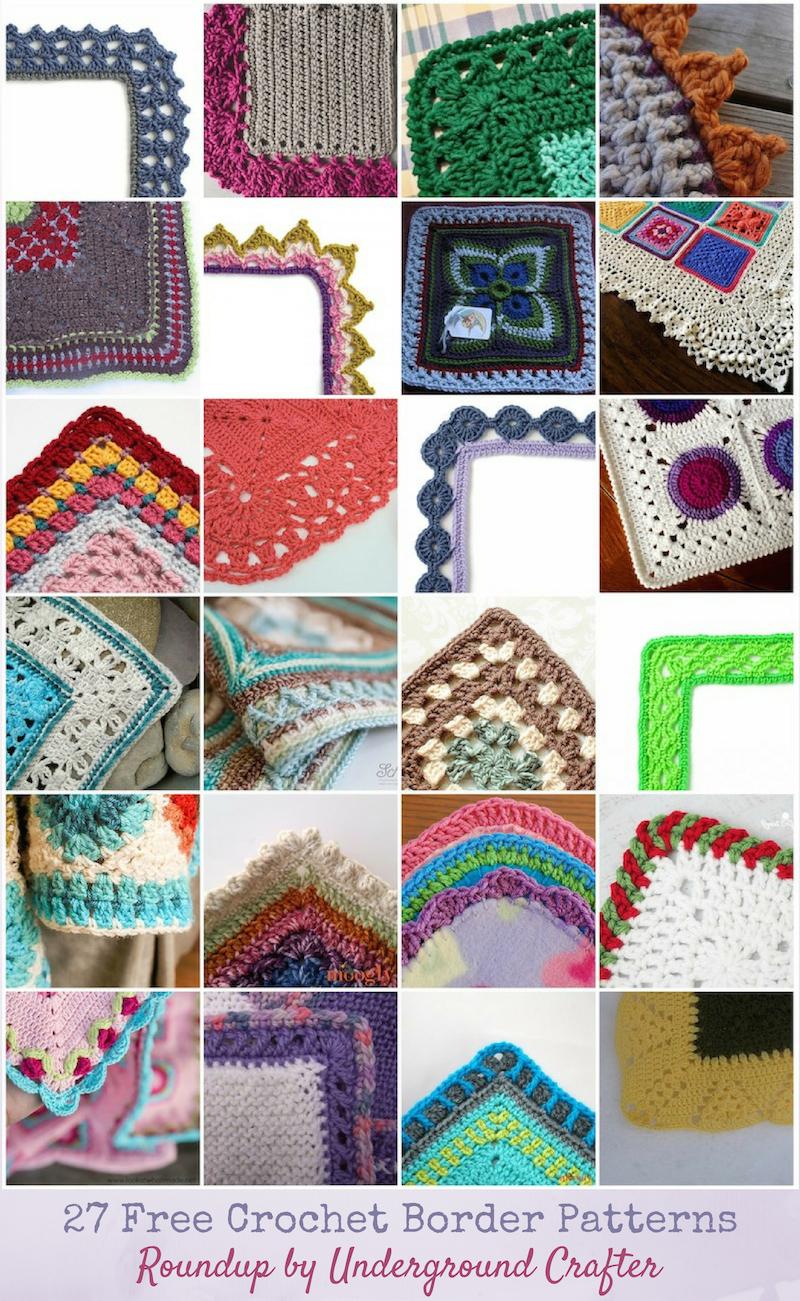 Roundup 27 Free Crochet Border Patterns Underground Crafter