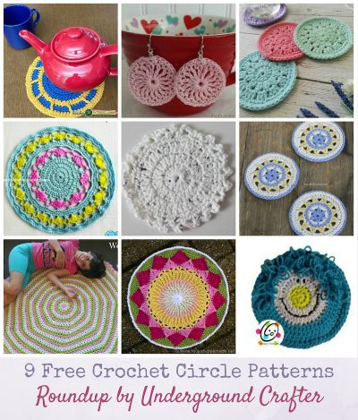9 Free Crochet Circle Patterns: Roundup via Underground Crafter | Second Annual Granny Square Month