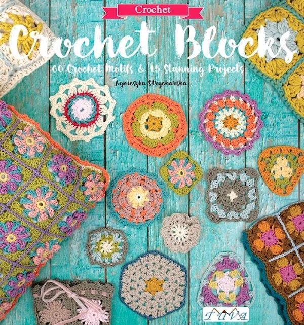 Crochet Blocks by Agnieszka Strycharska (with excerpted patterns for Motif 2 and Skirt) via Underground Crafter | book cover