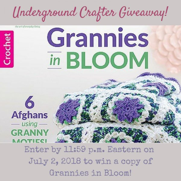 Book Review: Grannies in Bloom crochet pattern collection by Leisure Arts via Underground Crafter - giveaway