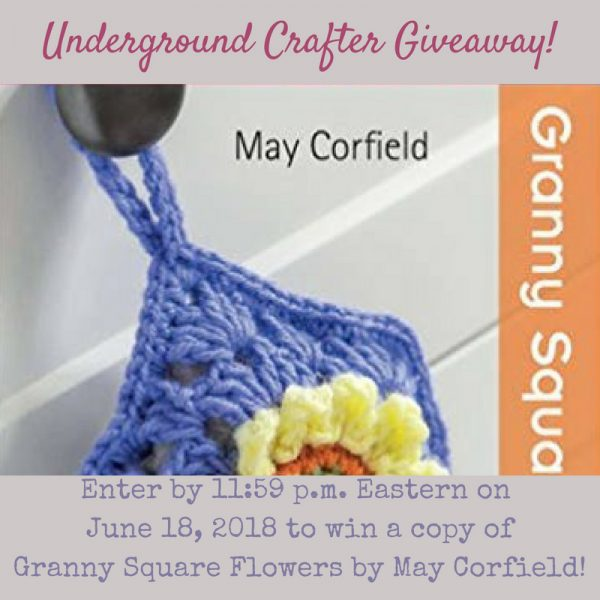 Granny Square Flowers by May Corfield (book review with Rose pattern excerpt via Underground Crafter) - giveaway