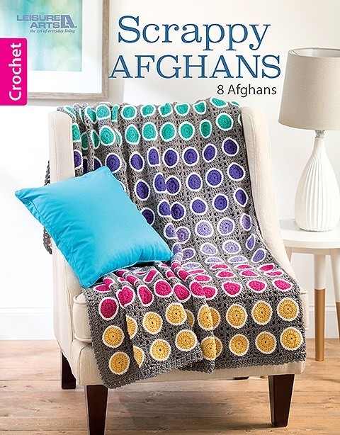 Scrappy Afghans: 8 Colorful Crochet Projects to Work Through Your Yarn Stash by Leisure Arts via Underground Crafter