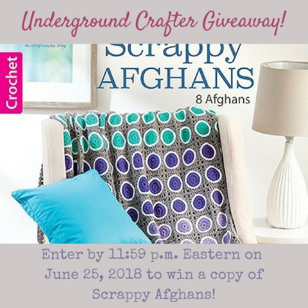 Scrappy Afghans: 8 Colorful Crochet Projects to Work Through Your Yarn Stash by Leisure Arts via Underground Crafter - giveaway