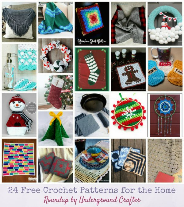 24 Free Crochet Patterns for the Home via Underground Crafter