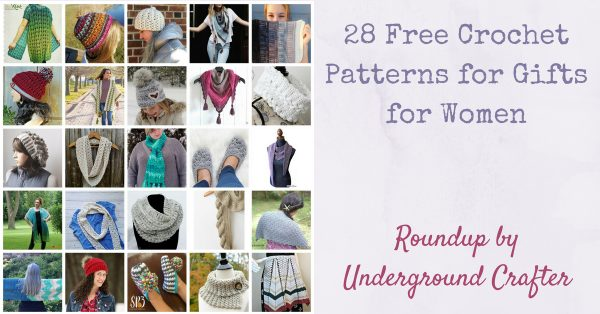 28 Free Crochet Patterns for Gifts for Women via Underground Crafter