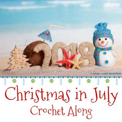 2018 Christmas in July Crochet Along with Stitches n Scraps and Underground Crafter - 16 designers, 16 free crochet patterns, great prizes!