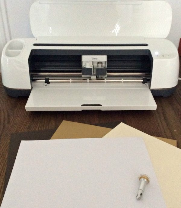 How To Make Picture Perfect Cards (and Other Folds) with the Cricut Maker Scoring Wheel by Underground Crafter - Cricut Maker with cardstock and Scoring Wheel